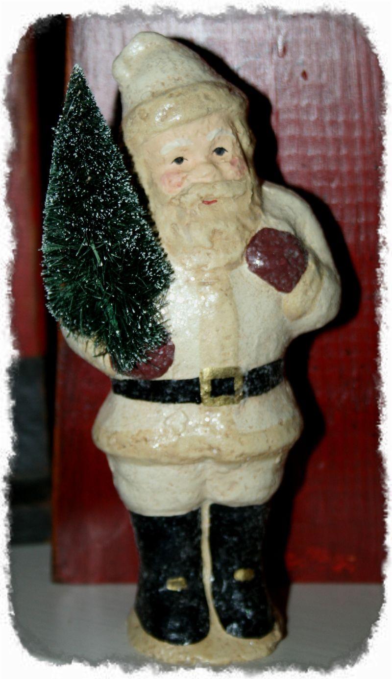 Chalkware Santa (framed with ArtEdges)