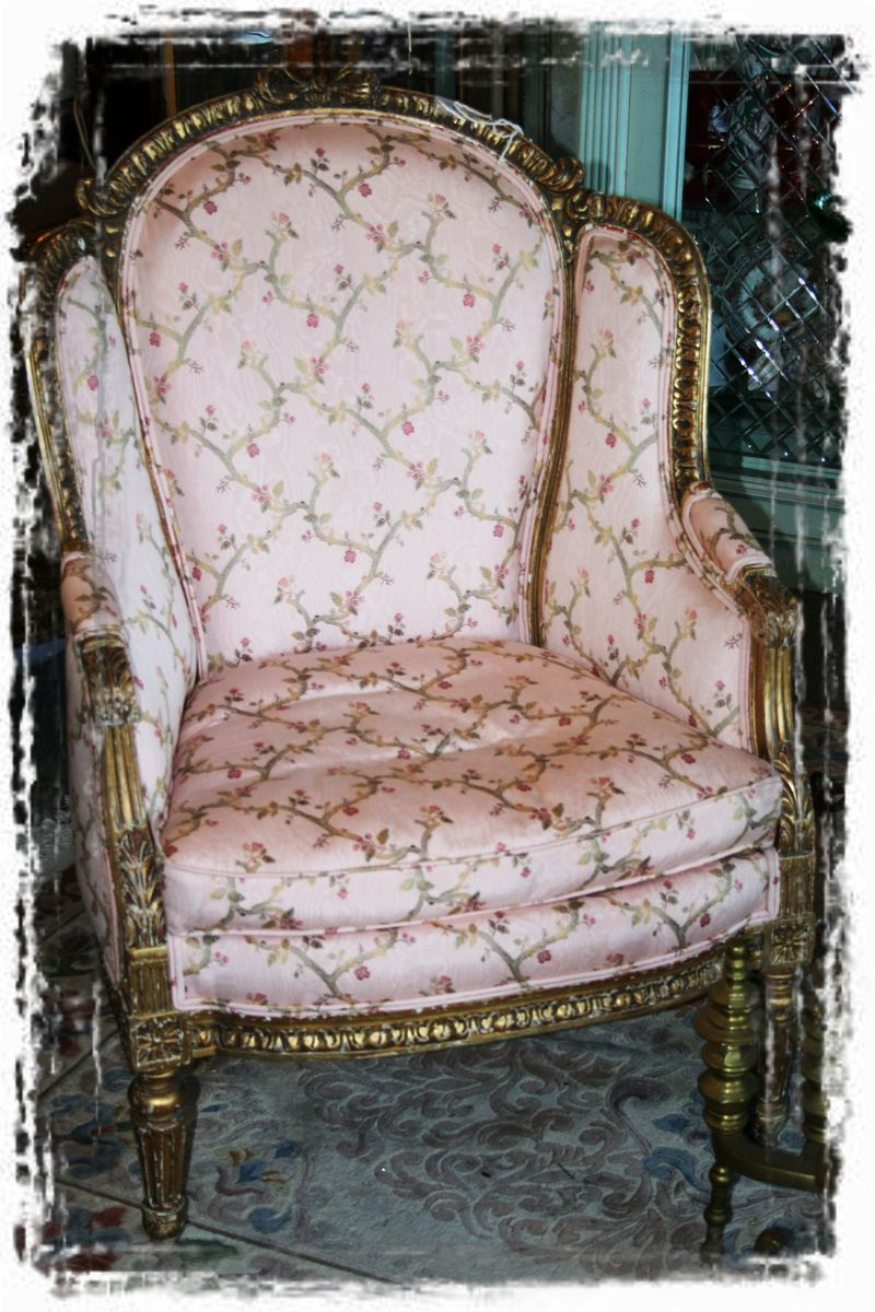 The pink chair (framed with ArtEdges)