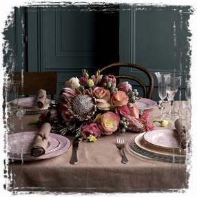 Romantic table (framed with ArtEdges)