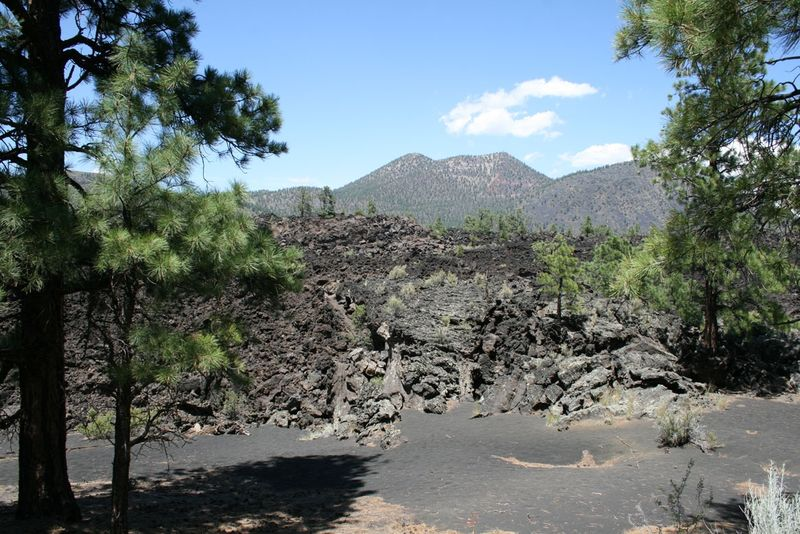 Old Lava Sunset Crater Volcano