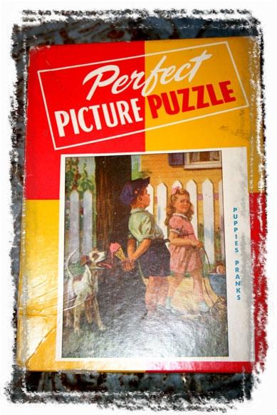 VINTAGE-PUZZLE (framed with ArtEdges)