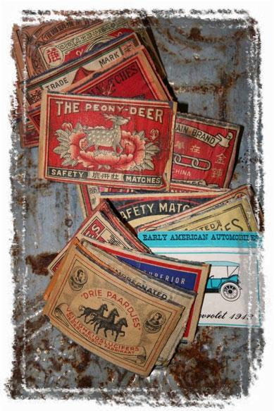 VINTAGE-MATCHBOOK-BOX-COVER (framed with ArtEdges)